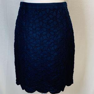 Talbots women's size 4 skirt pencil linen blue